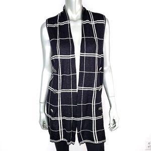 CJ Banks Soft Plaid Cardigan Sweater Plus Size 1X
